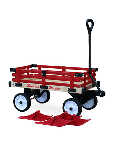 Millside Convertible Sleigh Wagon-RED-One Size