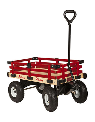Millside 16x34-Inch Wooden Express Wagon-RED-One Size