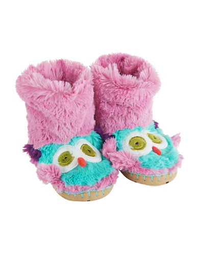 Little Blue House Owl Slippers-PURPLE-14