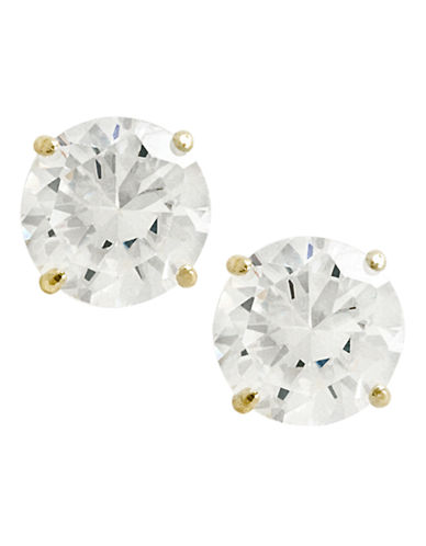 Fine Jewellery 14K Yellow Gold Cubic Zirconia Earrings-CUBIC ZIRCONIA-One Size
