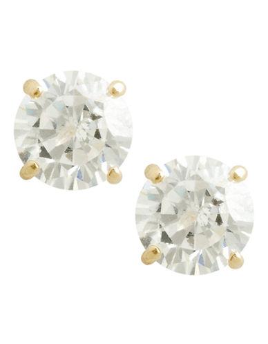 Fine Jewellery 14K Yellow Gold Cubic Zirconia Earrings-CUBIC ZIRCONIA-One Size