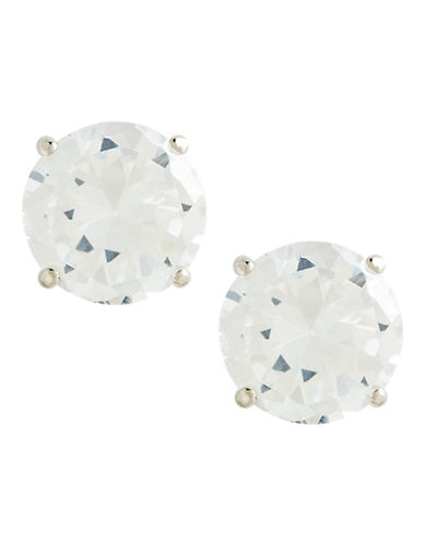 Fine Jewellery 14Kt Wg Earrings Set With 6Mm Rd Cubic Zirconia Stones.-CUBIC ZIRCONIA-One Size
