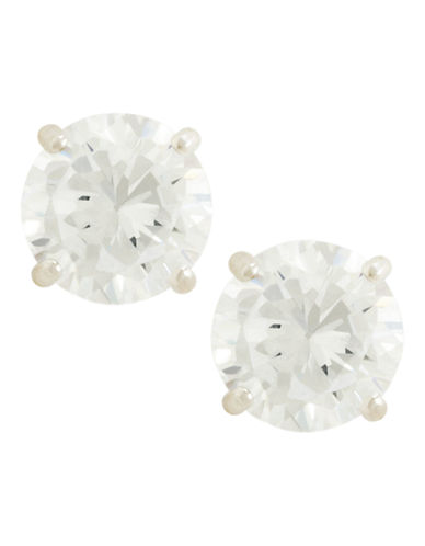 Fine Jewellery 14K White Gold Cubic Zirconia Earrings-CUBIC ZIRCONIA-One Size