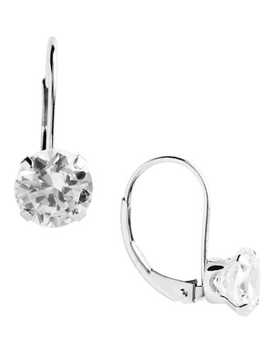Fine Jewellery 14kt Wg Leverback Earrings Set With 6mm Rd Cubic Zirconia Stones-WHITE GOLD/CUBIC ZIRCONIA-One Size