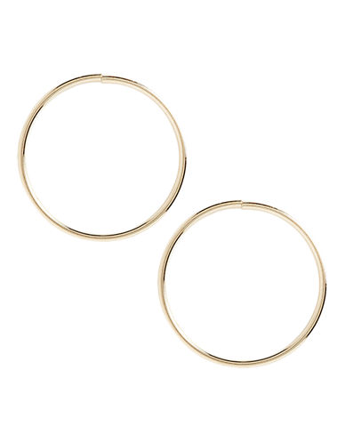 Fine Jewellery 14K Yellow Gold Endless Hoops-YELLOW GOLD-One Size