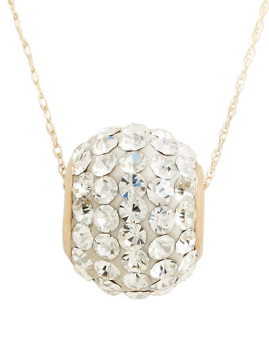 Fine Jewellery 14K Yellow Gold Multi Crystal Stone Slider Necklace-SILVER-One Size