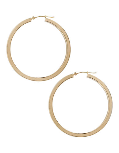 Fine Jewellery 14K Yellow Gold And Sterling Silver Square Hoop Earrings-AURAGENTO (SILVER/GOLD)-One Size