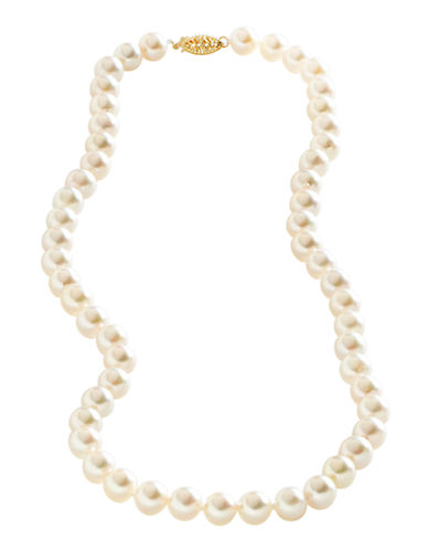 Fine Jewellery 14K Yellow Gold Akoya Pearl Necklace-PEARL-One Size