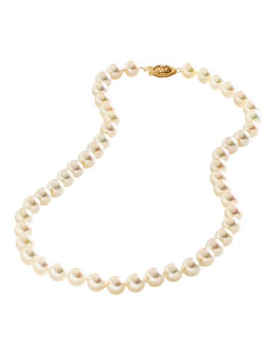 Fine Jewellery 14K Yellow Gold Akoya Pearl Strand Necklace-PEARL-One Size