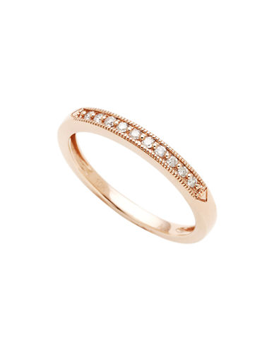 Fine Jewellery 10K Pink Gold 0.10ct Diamond Ring-ROSE GOLD-7