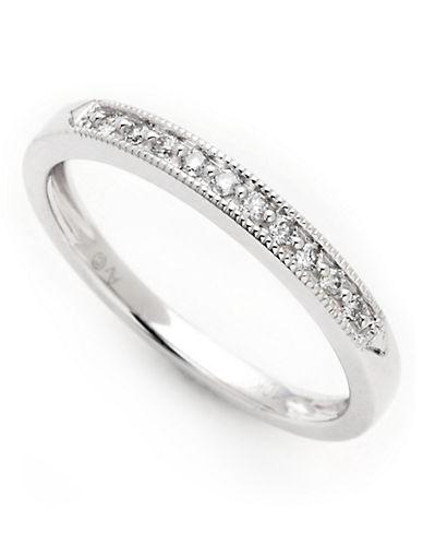 Fine Jewellery 10K White Gold 0.10ct Diamond Ring-WHITE GOLD-7