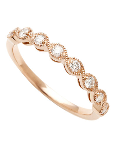 Fine Jewellery 14K Pink Gold 0.25ct Diamond Ring-ROSE GOLD-7