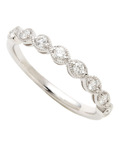 Fine Jewellery 14K White Gold 0.25ct Diamond Ring-WHITE GOLD-7