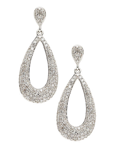 Fine Jewellery 14K White Gold Diamond Drop Earrings-DIAMOND-One Size