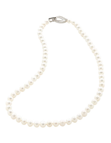 Town & Country Sterling Silver Black And White Pearl Necklace-PEARL-One Size