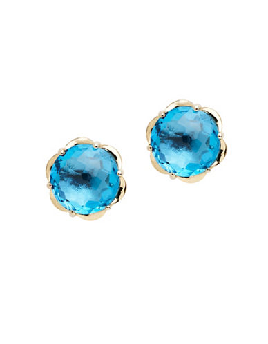 Town & Country Sterling Silver Blue Topaz Brazilliance Earrings-TOPAZ-One Size