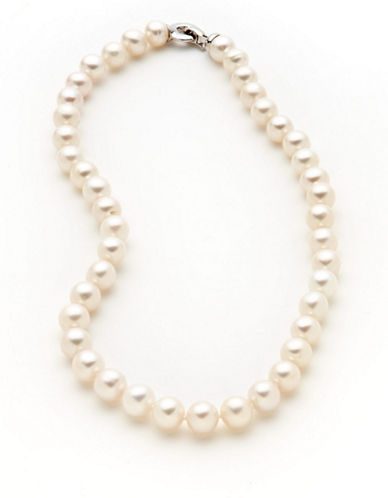 Fine Jewellery Sterling Silver Pearl Necklace-STERLING SILVER/PEARL-One Size