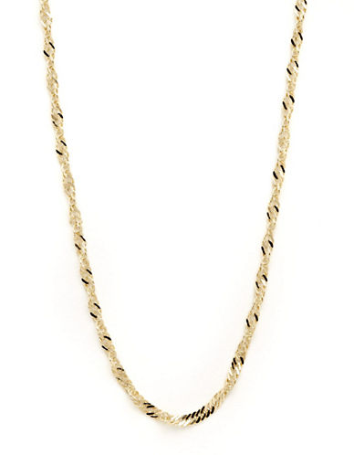 Fine Jewellery 14K Yellow Gold Singapore Chain Necklace-YELLOW GOLD-One Size