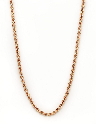 Fine Jewellery 14K Rose Gold Rope Chain-ROSE GOLD-One Size