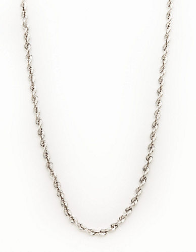 Fine Jewellery 14K White Gold Rope Chain-WHITE GOLD-One Size
