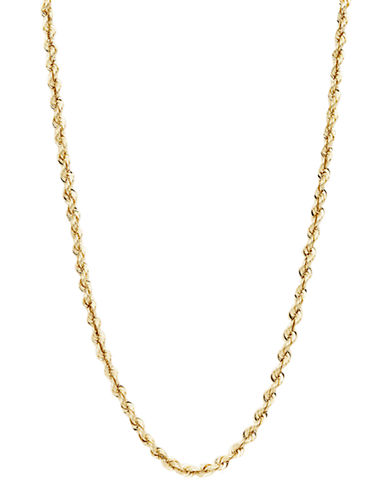 Fine Jewellery 14K Yellow Gold Rope Chain-YELLOW GOLD-One Size