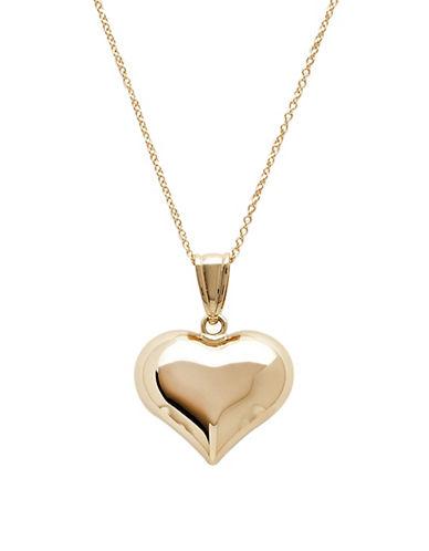 Fine Jewellery 14K Yellow Gold Polished Puffed Heart Pendant-YELLOW GOLD-One Size