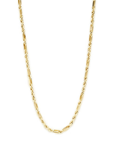 Fine Jewellery 14K Yellow Gold Hollow Supreme Link Chain Necklace-YELLOW GOLD-One Size