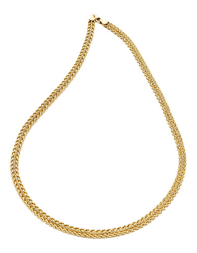 Fine Jewellery 14K Yellow Gold Hollow Rope Link Necklace-YELLOW GOLD-One Size