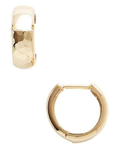 Fine Jewellery 14K Yellow Gold Polished Huggie Hoops-YELLOW GOLD-One Size