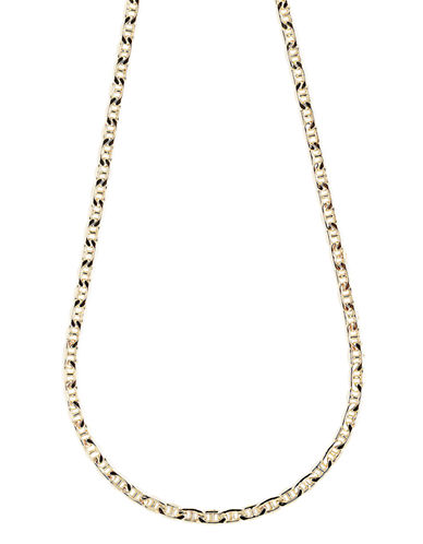 Fine Jewellery 10K Yellow Gold Bevelled Marine Link Chain Necklace-YELLOW GOLD-One Size