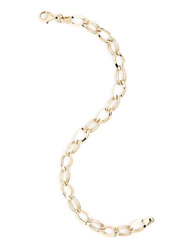 Fine Jewellery 14K Yellow Gold Oval Link Twist Bracelet-YELLOW GOLD-One Size