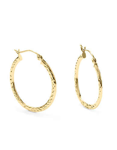Fine Jewellery 14KT Gold Hoops-GOLD-One Size