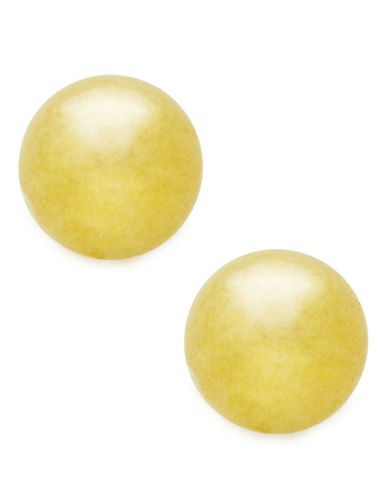 Fine Jewellery 18Kt Yellow Gold 6mm Polished Ball Post Earrings-YELLOW GOLD-One Size