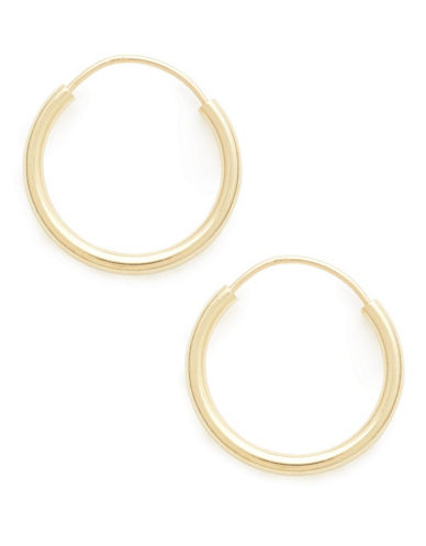 Fine Jewellery 18K Yellow Gold 12mm Endless Hoops-YELLOW GOLD-One Size