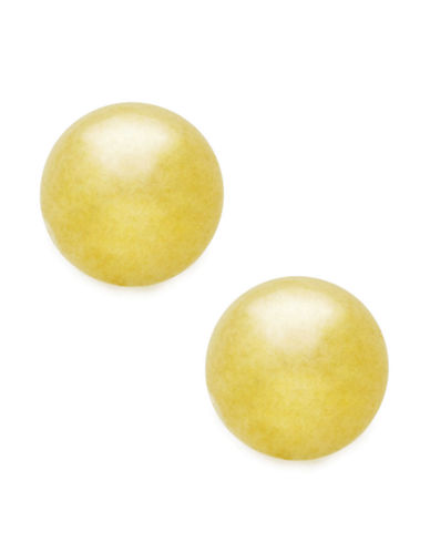 Fine Jewellery 18Kt 5mm Gold 5mm Polished Ball Post Earrings-YELLOW GOLD-One Size