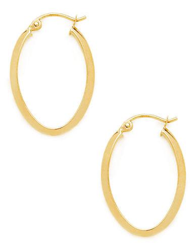 Fine Jewellery 14kt Yellow Gold Hoop Earrings-DIAMOND-One Size