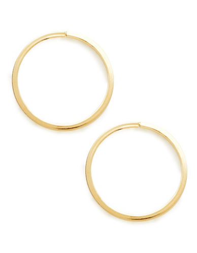 Fine Jewellery 14KT Square Hoops-GOLD-One Size