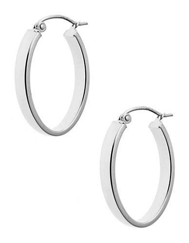 Fine Jewellery Hoop Earrings-WHITE GOLD-One Size