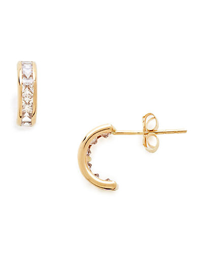 Fine Jewellery Childrens 14kt Yellow Gold Earrings-CUBIC ZIRCONIA-One Size