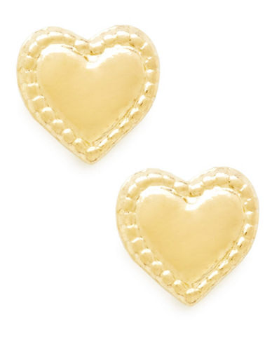 Fine Jewellery Childrens 14kt Yellow Gold Earrings-YELLOW GOLD-One Size