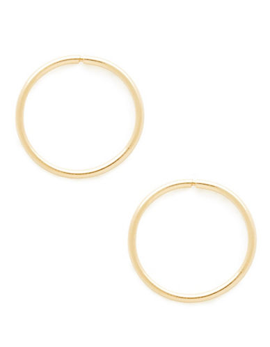 Fine Jewellery Childrens 14kt Yellow Gold Endless Hoops-YELLOW GOLD-One Size