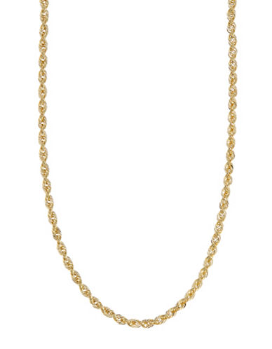 Fine Jewellery 14Kt Yellow Gold 18 Inch 3-3.2Mm Hollow Glitter Rope Chain With Lobster Clasp Closure-YELLOW GOLD-One Size