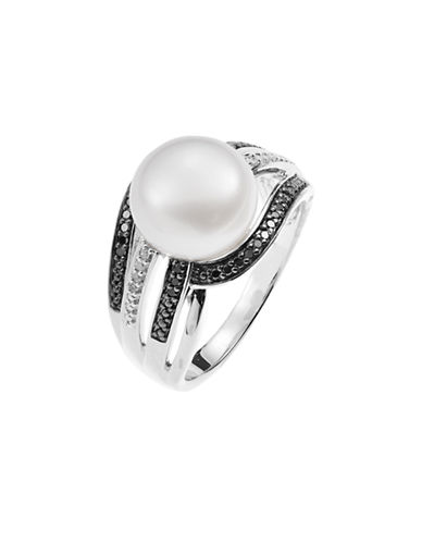 Fine Jewellery Freshwater Pearl and Diamond Ring-PEARL-7