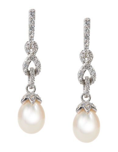Fine Jewellery 7mm Drop Pearl Earrings-PEARL-One Size