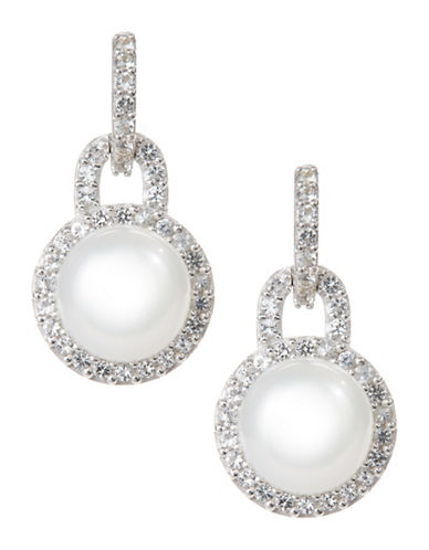 Fine Jewellery 7mm Pearl Drop Earrings-PEARL-One Size