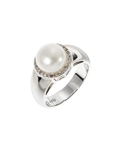Fine Jewellery Sterling Silver Bezel Pearl Ring-PEARL-7