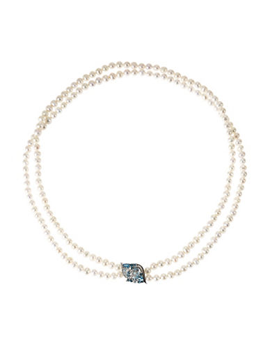 Fine Jewellery 6mm Double Strand Pearl Necklace-PEARL-One Size