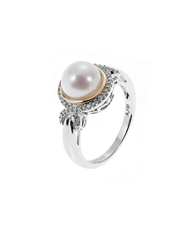 Fine Jewellery Diamond and Pearl Ring-WHITE-7
