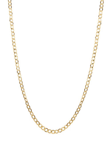 Fine Jewellery Mens 10K Yellow Gold Curb Necklace-YELLOW GOLD-One Size