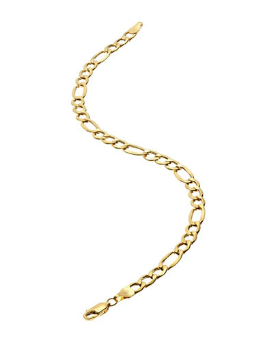 Fine Jewellery Mens 10K Yellow Gold Figaro Bracelet-YELLOW GOLD-One Size